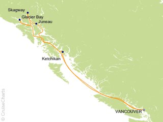 7 Night Alaskan Inside Passage Cruise from Vancouver