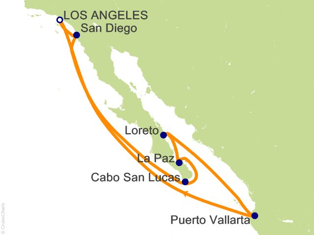 10 Night Baja Peninsula And Sea Of Cortez Cruise On Star Princess From Los Angeles Sailing