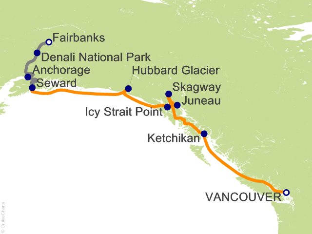 10 Night Alaska Interior Express Post-Cruise 2A from Vancouver