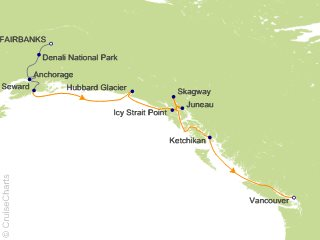 10 Night Alaska Interior Express Pre-Cruise 2B from Fairbanks from Fairbanks
