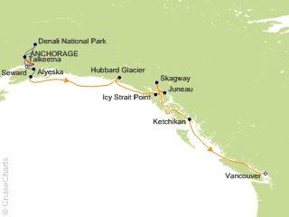 12 Night Alaska Mountain Medley Cruisetour 5B from Anchorage