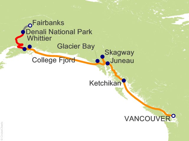 10 Night Denali Explorer - Tour CA3 from Vancouver
