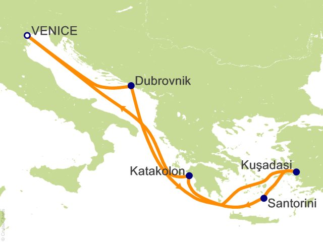 7 Night Greece And Croatia Cruise On Vision Of The Seas From Venice Sailing September 17 2016