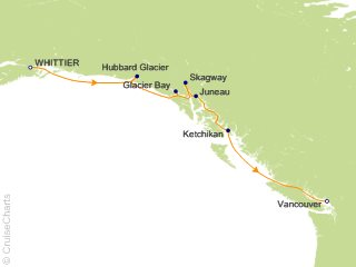7 Night Voyage of the Glaciers with Glacier Bay (Southbound) Cruise from Anchorage