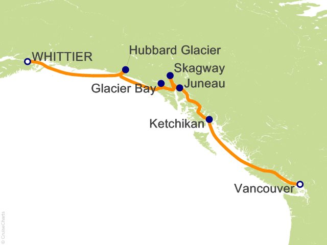 7 Night Voyage of the Glaciers with Glacier Bay (Southbound) Cruise