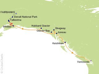 13 Night Connoisseur Escorted Tour QB6 from Fairbanks from Fairbanks