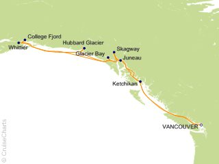 14 Night Voyage of the Glaciers Grand Adventure Cruise from Vancouver