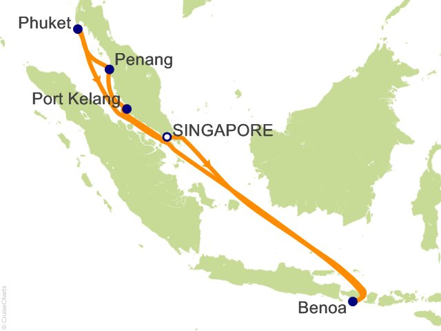 10 Night Malay Peninsula and Indonesia Cruise