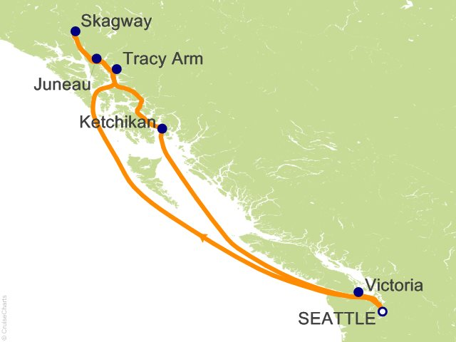 7 Night Alaska From Seattle Cruise On Carnival Legend From