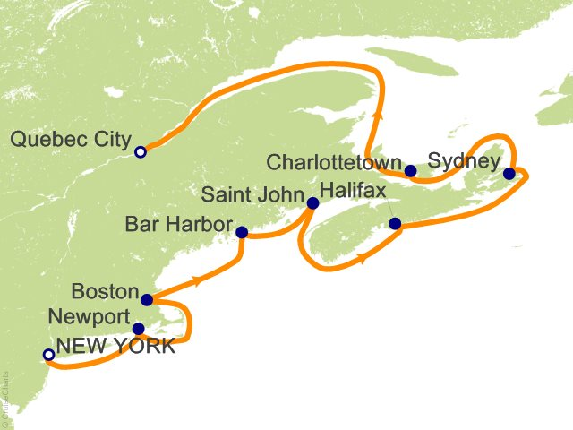 10 Night Classic Canada and New England Cruise