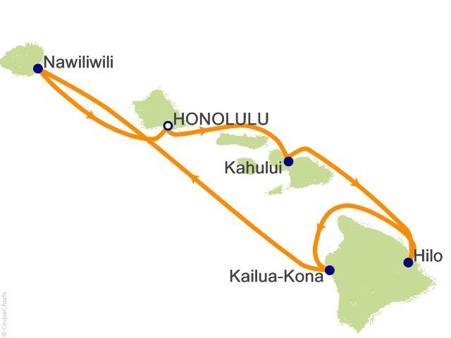 7 Night Hawaii Cruise from Honolulu