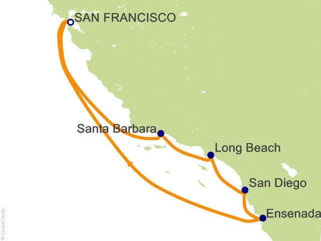 Night Classic California Coast Cruise On Grand Princess From San - California coast cruises
