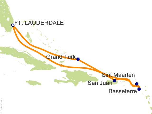 8 Night Eastern Caribbean Cruise On Carnival Conquest From Fort Lauderdale Sa