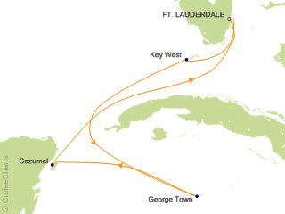 6 Night Mexico  Key West and Grand Cayman Cruise from Fort Lauderdale