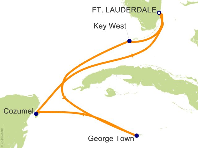 6 Night Mexico  Key West and Grand Cayman Cruise