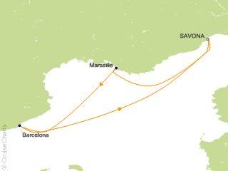 3 Night Mediterranean from Savona Cruise from Savona