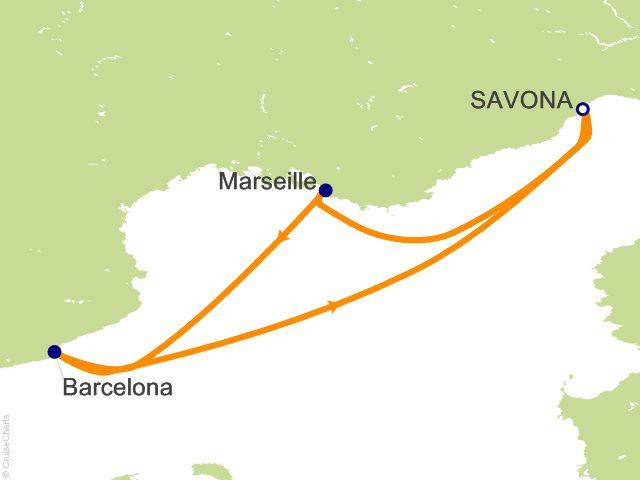 3 Night Mediterranean from Savona Cruise