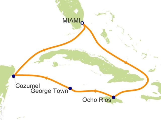 6 Night Western Caribbean From Miami Cruise