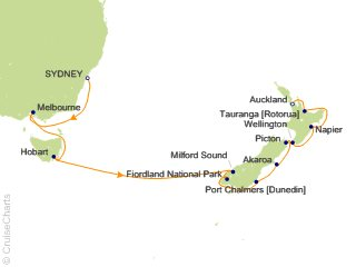 Holland America Australia / New Zealand Cruise, 14 Nights