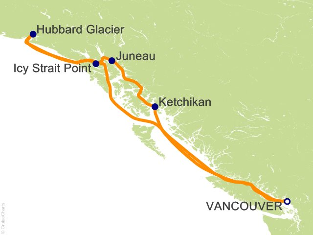 Cruises to Hubbard Glacier, Cruise Ports Alaska ...