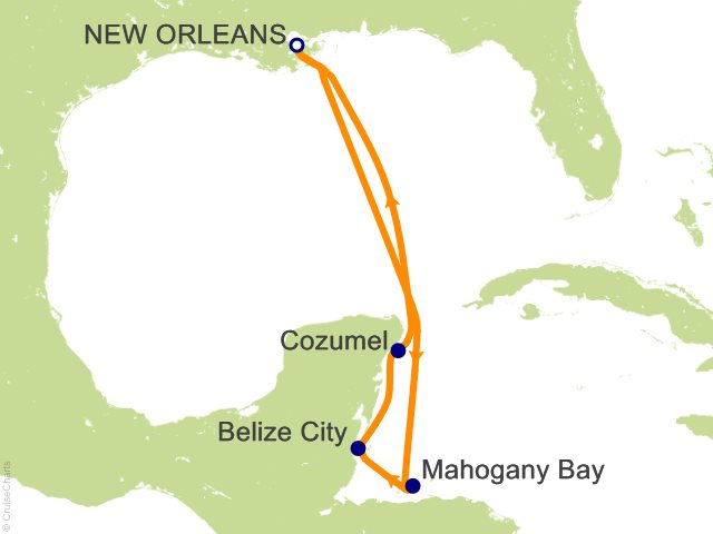 7 Night Western Caribbean from New Orleans Cruise
