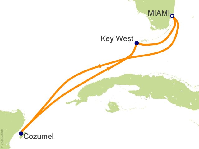 5 Night Mexico and Key West Cruise
