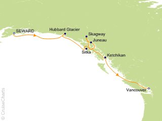 7 Night Seward to Vancouver Cruise from Anchorage