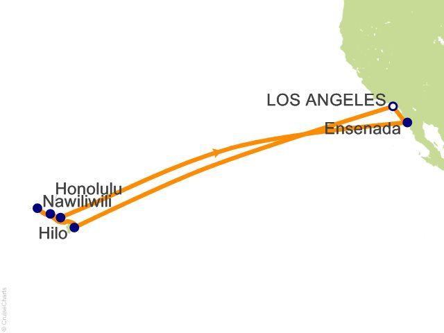 15 Night Hawaiian Islands Cruise from Los Angeles