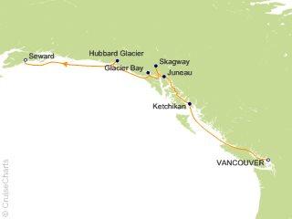 7 Night Alaska   Vancouver to Seward   Glacier Bay  Skagway and Juneau Cruise from Vancouver