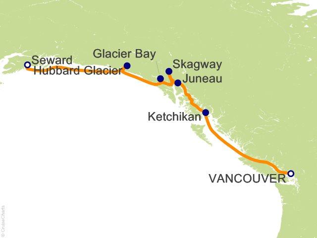7 Night Alaska   Vancouver to Seward   Glacier Bay  Skagway and Juneau Cruise