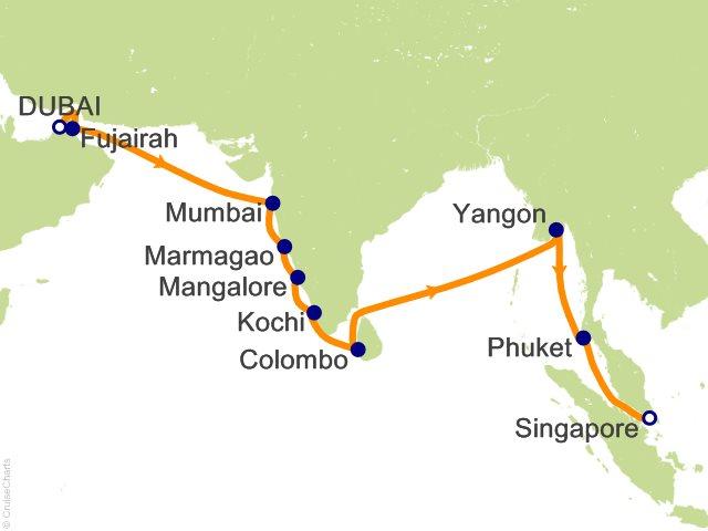 20 night dubai to singapore cruise on seven seas voyager from dubai 20 night dubai to singapore cruise from dubai gumiabroncs Image collections