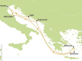 7 Night Mediterranean Cruise from Ancona