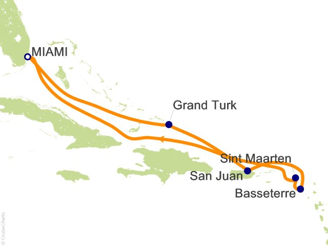8 Night Eastern Caribbean From Miami Cruise On Carnival