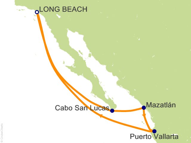 Carnival Mexico Cruise, 7 Nights From Long Beach, Carnival Panorama on