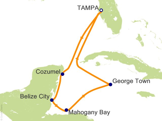 7 Night Western Caribbean Cruise On Carnival Pride From