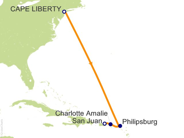 6 Night Eastern Caribbean Cruise from Bayonne (Cape Liberty)