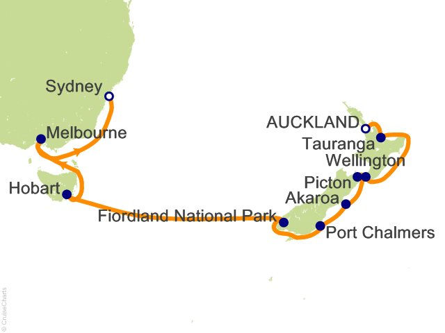 14 night australia and new zealand cruise from auckland