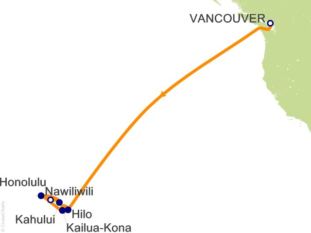 Night Hawaii Cruise On Carnival Legend From Vancouver Sailing - Cruises to hawaii 2016