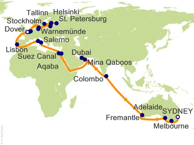 55 night world cruise liner sydney to london cruise on sea princess 55 night world cruise liner sydney to london cruise from sydney gumiabroncs Image collections
