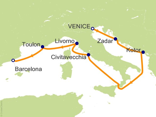 7 Night Adriatic And Mediterranean Cruise On Celebrity