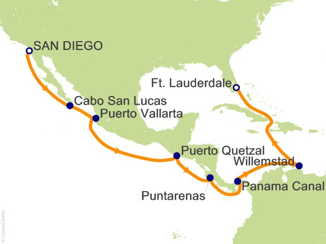 15 Night Eastbound Panama Canal Cruise On Celebrity