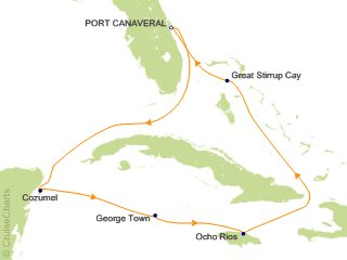 7 Night Caribbean from Orlando (Port Canaveral)   Jamaica and Grand Cayman Cruise from Port Canaveral