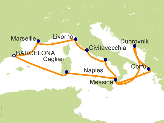 12 Night Europe Cruise On Carnival Vista From Barcelona