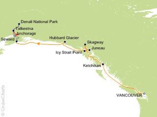 9 Night Denali Express Cruisetour 11A from Vancouver