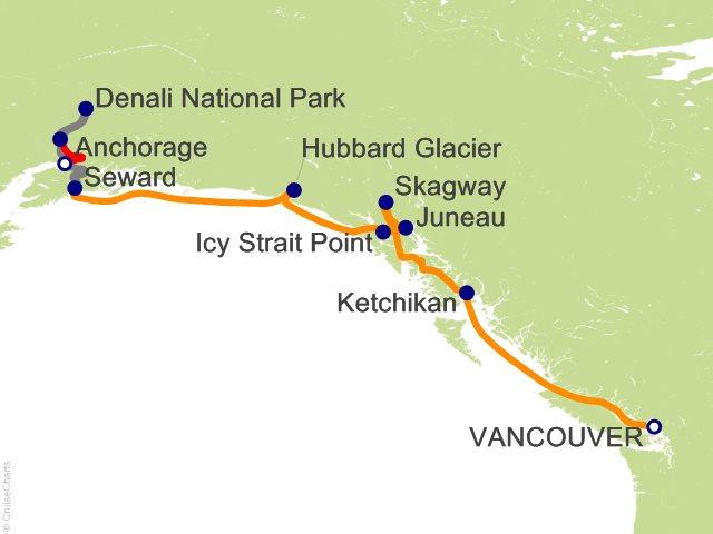 9 Night Denali Express Cruisetour 11A