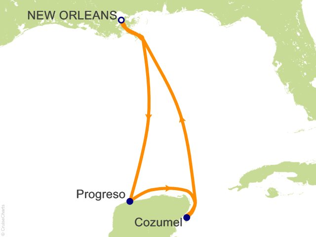 5 Night Western Caribbean Cruise On Carnival Triumph From New Orleans Sailing December 5 2016
