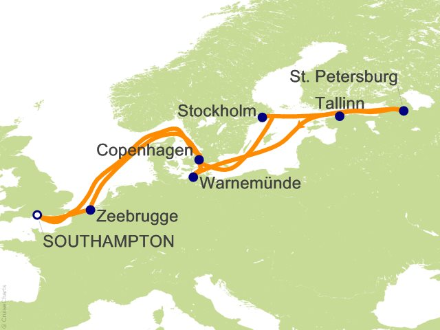 Celebrity Eclipse, Scandinavia & Russia from Amsterdam, 18 ...