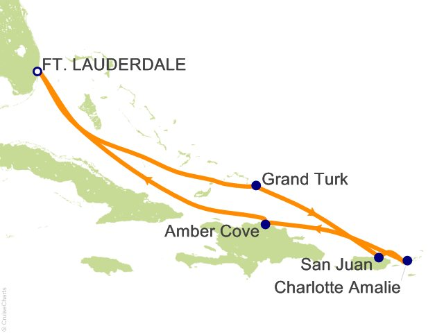 7 Night Eastern Caribbean Cruise On Carnival Conquest From