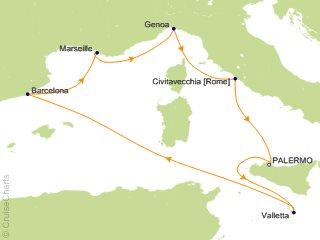 7 Night Mediterranean Cruise from Palermo