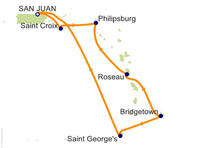 7 Night Southern Caribbean Cruise from San Juan